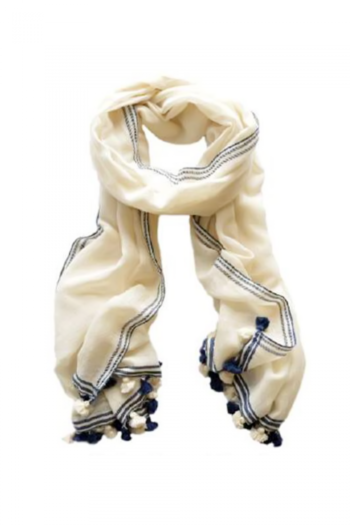 100% Cotton Jacquard Handloom Woven Scarf