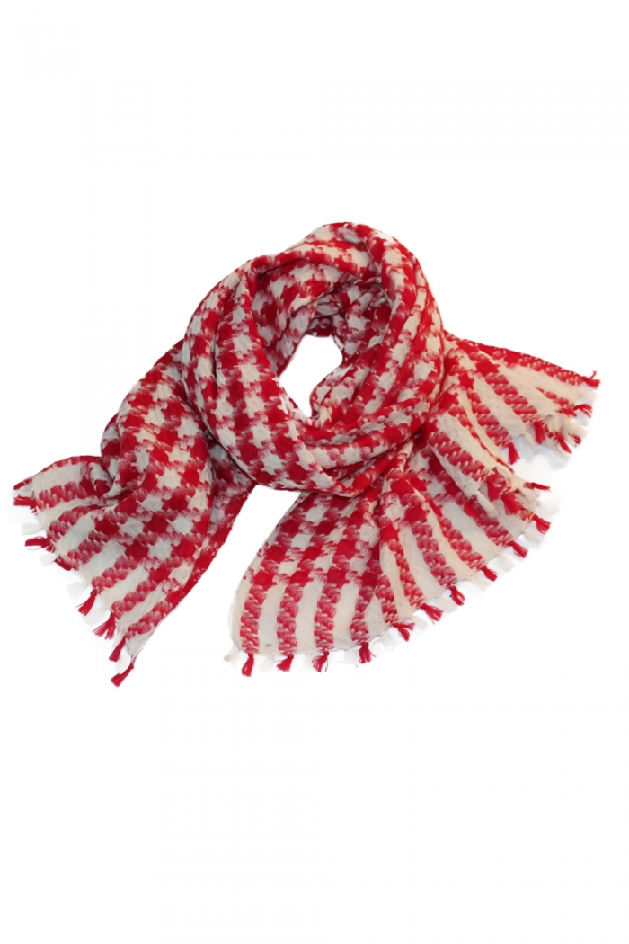 Sheep-Wool-Hand-Woven-Scarf-With-Pompom