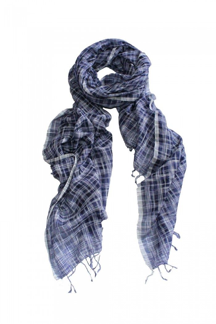 70% Cotton + 30% Silk Handloom Woven Scarf