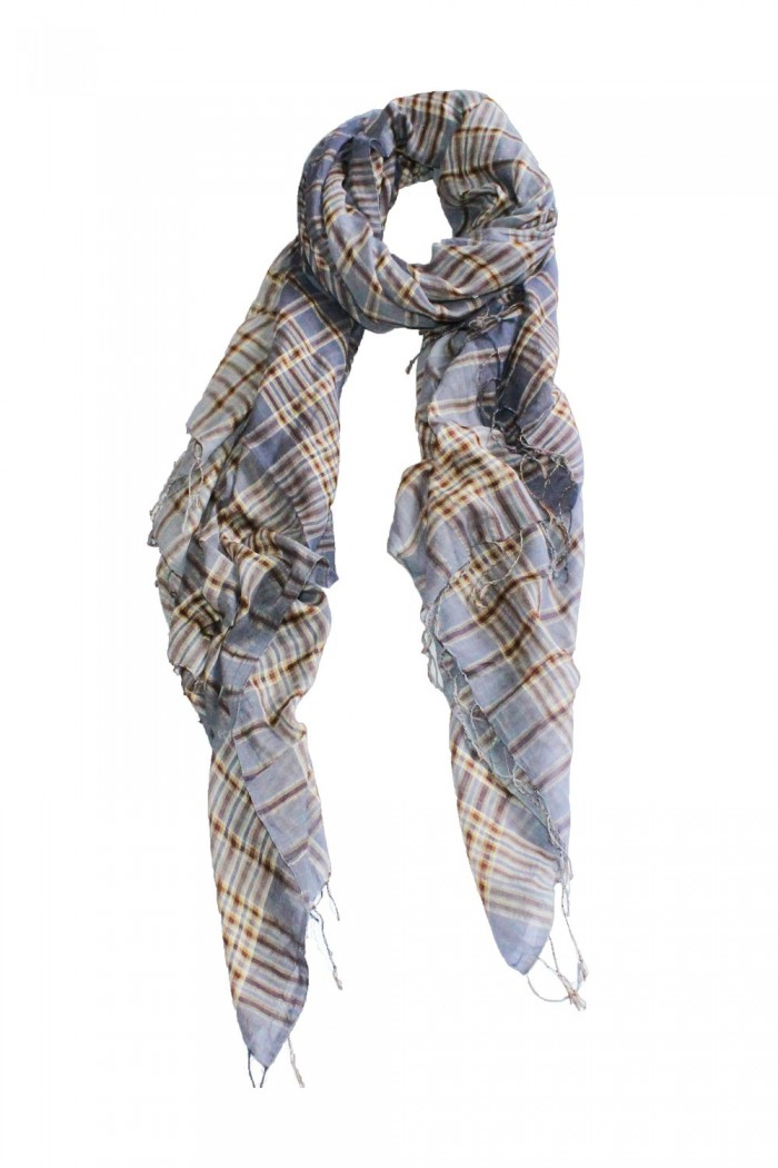 80% Cotton + 20% Silk Handloom Woven Scarf