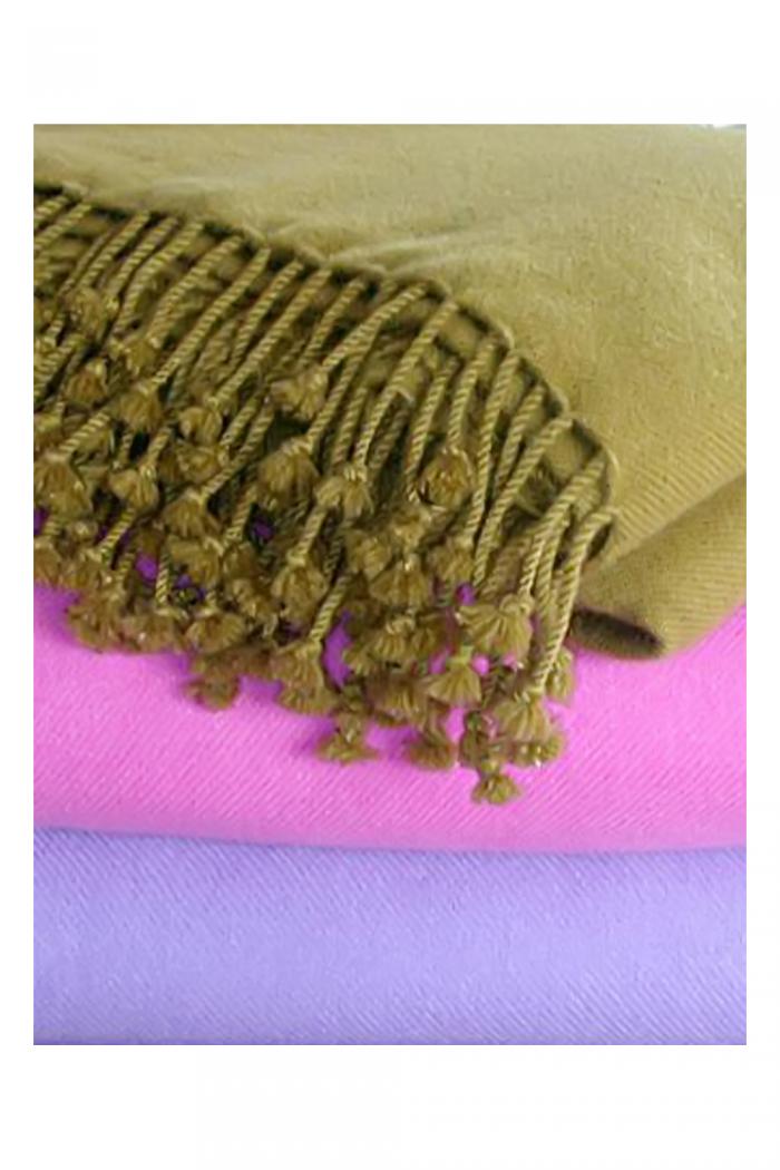 100% Cashmere Twill Weave Shawl.