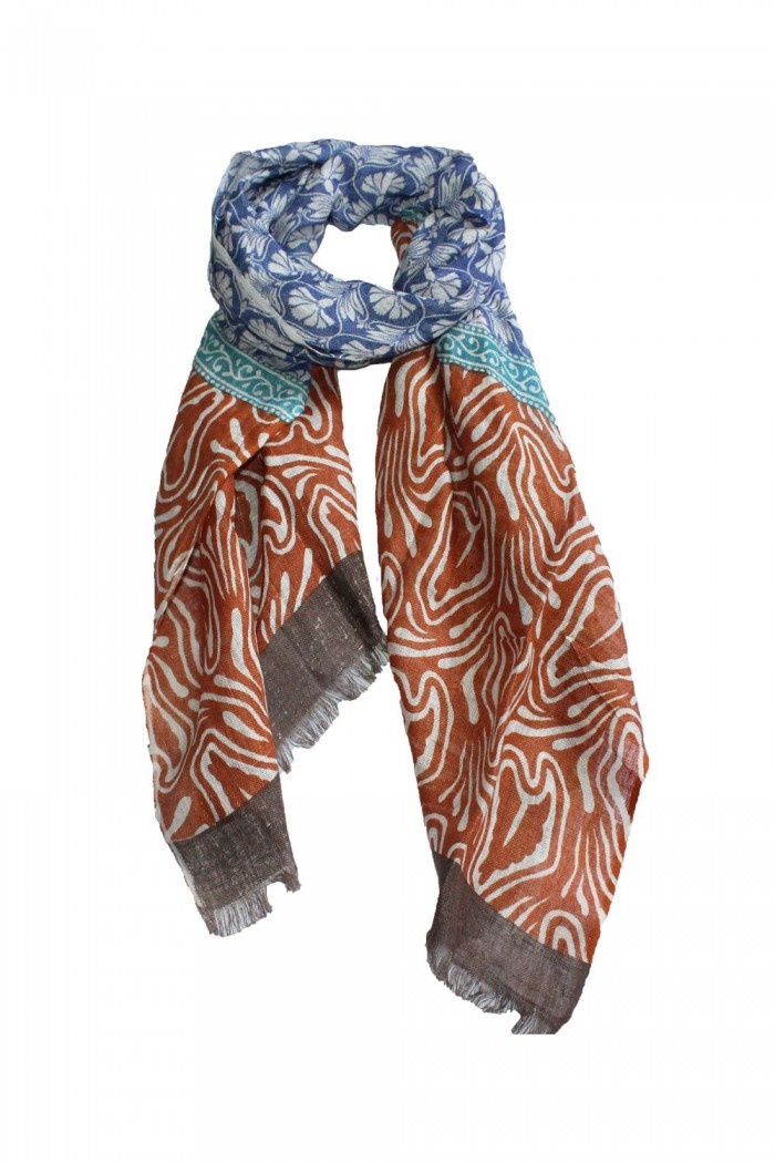 100% Linen Printed Scarf