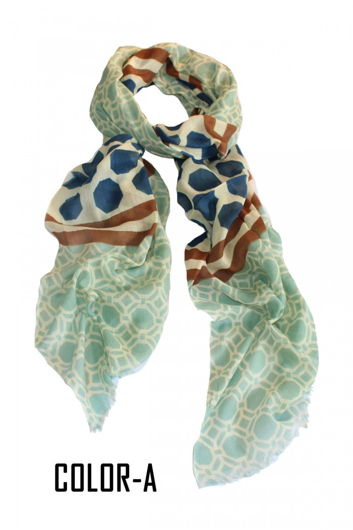 100% Cotton Twill Screen Printed Scarf