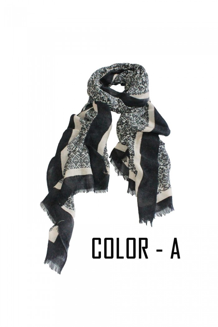100% Woolen Screen Printed Scarf